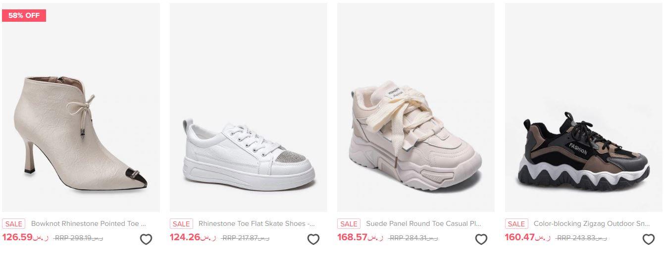 عروض موقع زافول السعوديه احذية